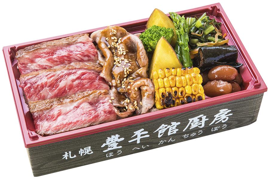 十勝和牛ロースのすき焼とステーキ食べ比べ